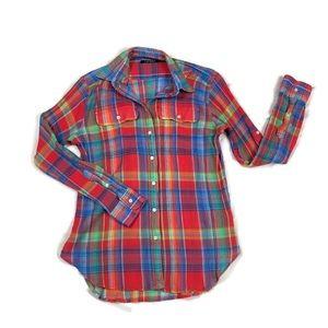 RALPH LAUREN | Western Plaid Shirt | Size SP